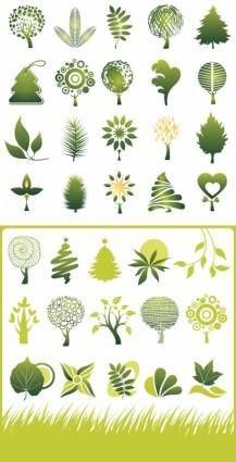 Green theme icon vector