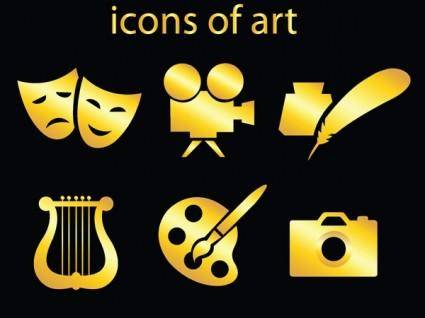 Art icon vector