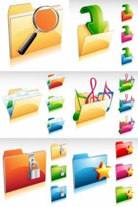 Gorgeous folder icon vector