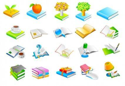 free vector Book series six icon vector