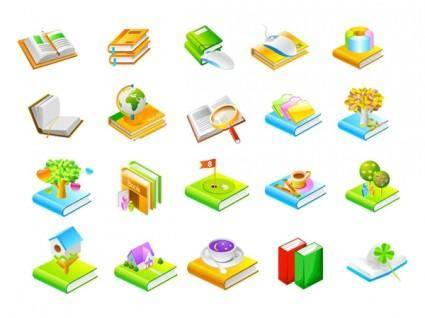 free vector Book series seven icon vector