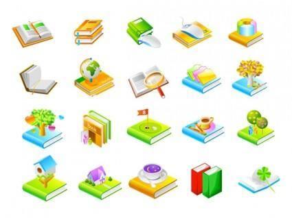 Book series seven icon vector
