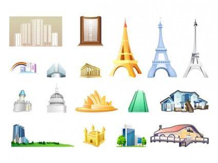 free vector One of the building icon vector