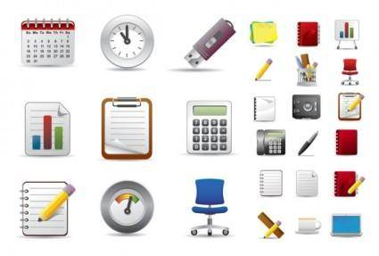 free vector Beautiful office icons vector