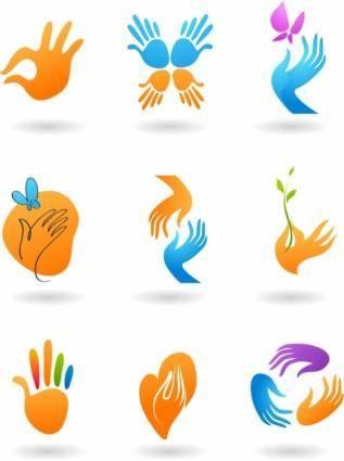 free vector Deformed hand icon vector