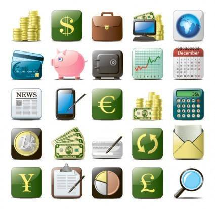 free vector Business website icons 01 vector