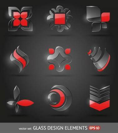 Glass icon texture 01 vector