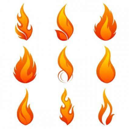 Flame icon 01 vector