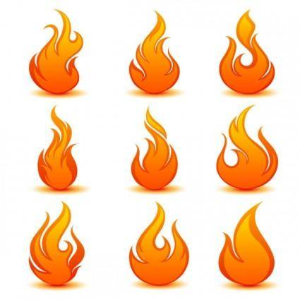 free vector Flame icon 04 vector