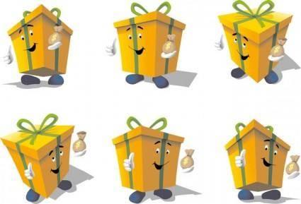 free vector Exquisite box icon vector