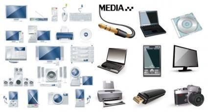 free vector Digital product icon vector