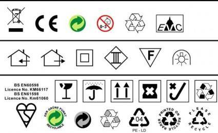 free vector To do a design often used in environmental standards such as ce trash icon