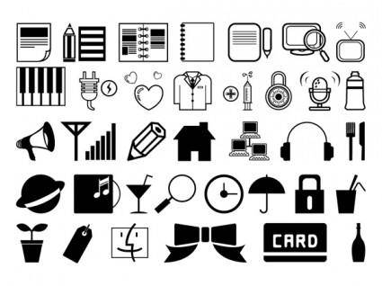 free vector One simple black and white icon vector