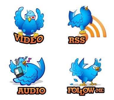 free vector Twitter bird icon vector
