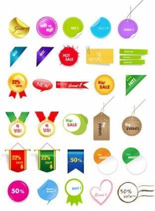 free vector 30 lovely sales discount tag vector