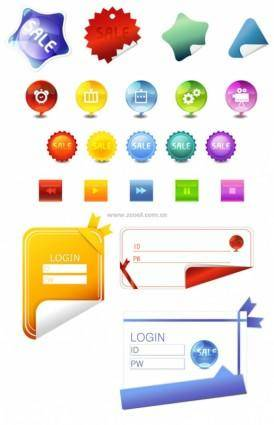 free vector Angular stickers button icons login and other vector