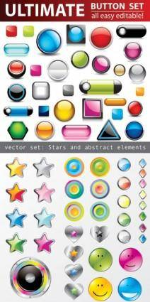 free vector All kinds of crystal texture of threedimensional icons vector
