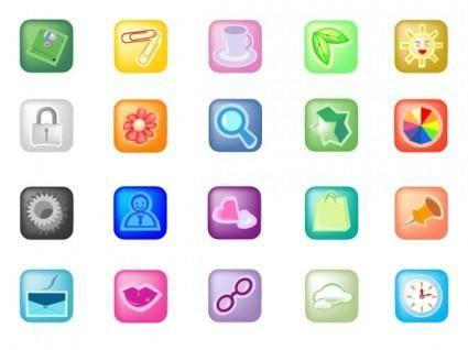 free vector Small square icon vector
