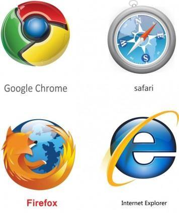 Ie chrome firefox safari icon vector