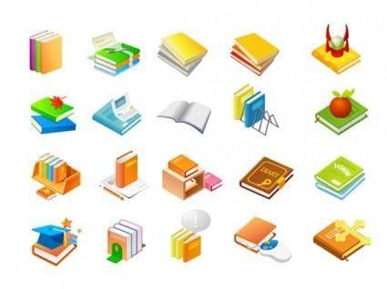 free vector Book series of eleven icon vector