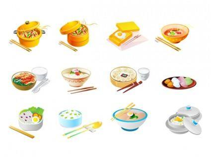 free vector Chinese food icon vector