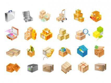 free vector Vector icon of the two cardboard boxes
