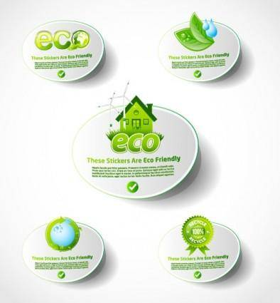 Environmental icon vector 1 lowcarbon life