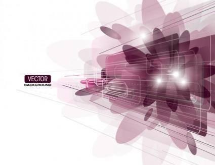 Brilliant purple elements 05 vector