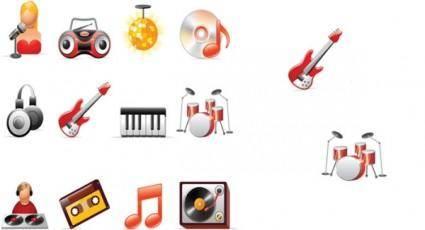 Music icon vector