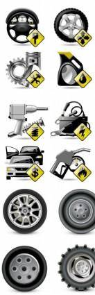 free vector Vehicle maintenance and repair icon vector
