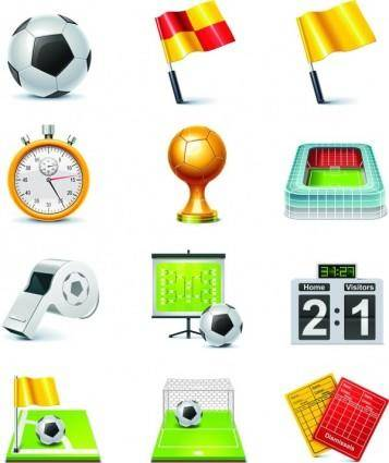 free vector The number of football icon