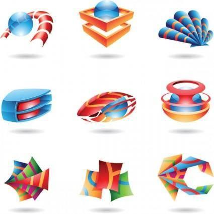 free vector Special threedimensional icon vector