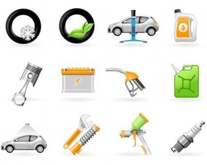 free vector Vehicle maintenance icon vector