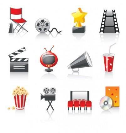 free vector Movie icon vector 3