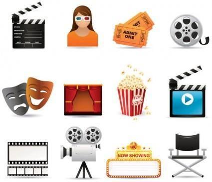 free vector 5 film icon vector