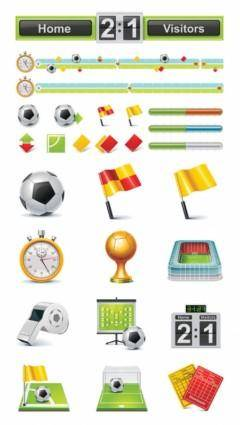free vector Football theme icon vector