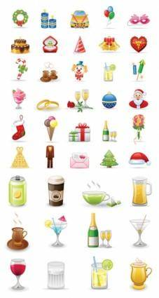 free vector 2 sets of icon vector