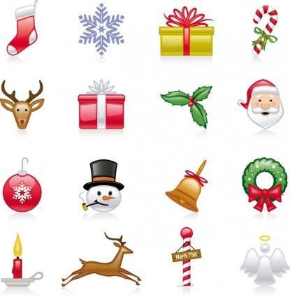 free vector Christmas icons vector
