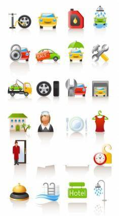 free vector Auto lifestyle icon vector