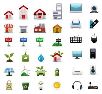 3 sets of icon vector