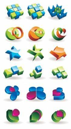 Threedimensional vector graphics icon