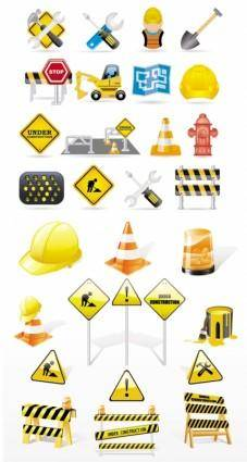 Fine vector construction traffic icon