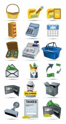 Shopping icon vector payment