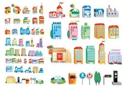 Threedimensional small house icon vector