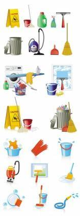 Fine cleaning icon vector