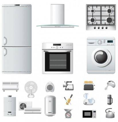 Household appliances icons vector