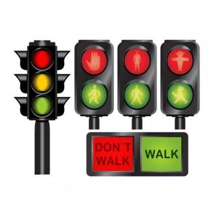 free vector Traffic light icon vector