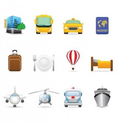 free vector Tourist theme icon vector