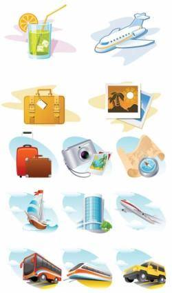 free vector Travel theme icon vector