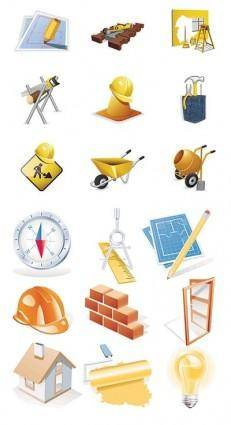 Construction site theme icon vector